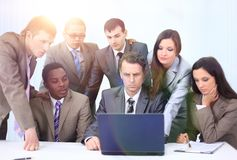 Manager and business team in office Royalty Free Stock Photography