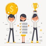 Business team. Leadership. Finance. The concept of teamwork. Business team. Effective work in the team. Leadership. Finance stock illustration