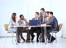 Business team discussing a new business plan Royalty Free Stock Image