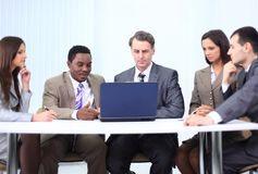 Business team discussing a new business plan Stock Photos
