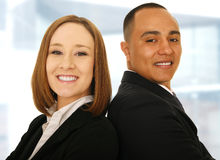 Business Team Lean On Each Other Royalty Free Stock Images