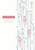 Business Team - line design brochure poster template A4. Business Team - vector line design brochure poster, flyer presentation template, A4 size layout vector illustration