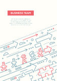 Business Team - line design brochure poster template A4 Royalty Free Stock Photography