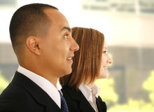 Business Team Listening To Presentation Stock Images
