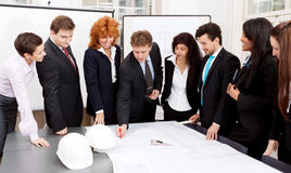 Business team looking architecture project Stock Photos