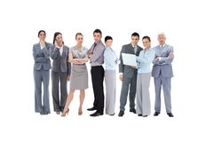 Business team looking at camera Stock Images