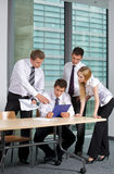 Business team looking at document in office Royalty Free Stock Photography