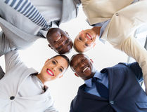 business team looking down Royalty Free Stock Photo