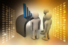 Business team looking at financial graph Royalty Free Stock Images