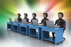 Business team looking at a Laptop Royalty Free Stock Photography