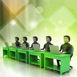 Business team looking at a Laptop Royalty Free Stock Images