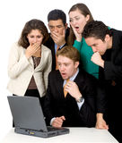 Business team looking shocked and worried Stock Photo
