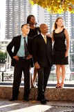 Business Team Looking to the Side Stock Image