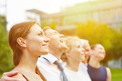 Business team looking to sun in summer Stock Image