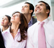 Business team looking up Stock Images