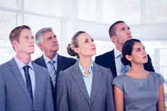 Business team looking up Stock Photography