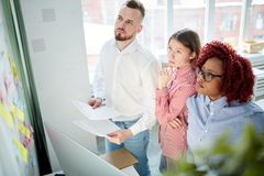 People planning at office Stock Images
