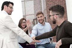 Business team makes an important decision. Concept of teamwork royalty free stock photography