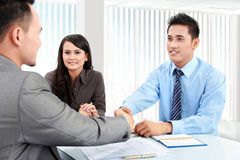 Business team making a deal Royalty Free Stock Photography