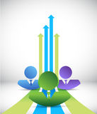 Business team making profits concept Stock Images