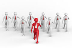 Business Team. Business man's walking Towards's Success royalty free illustration