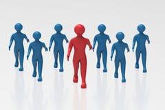 Business Team. Business man's walking Towards Success royalty free illustration