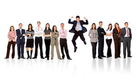 Business team - man standing out Stock Image