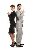 Business team a man and woman looking royalty free stock photos