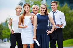 Business team with manager and trainees Royalty Free Stock Photography