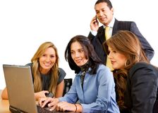 Business team in a meeting Stock Photo