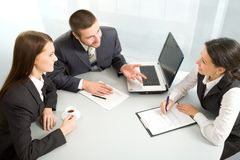Business team at a meeting Royalty Free Stock Photo
