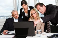 Business team at the meeting. Discussing work Royalty Free Stock Photos