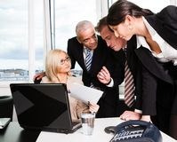 Business team at the meeting Stock Photography