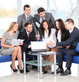 Business team in meeting Stock Photo