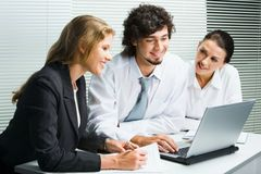 Business team at meeting Royalty Free Stock Photography