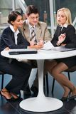 Business team at meeting Royalty Free Stock Photo