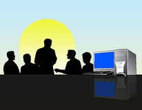 Business team meeting stock illustration