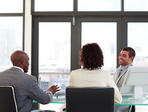 Business team in a meeting Royalty Free Stock Image