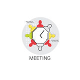 Business Team Meeting Brainstorm Icon Stock Photo