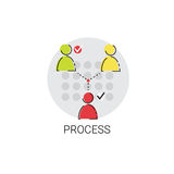 Business Team Meeting Brainstorm Process Icon Stock Photo