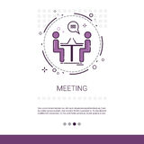 Business Team Meeting Brainstorm Process Web Banner With Copy Space. Vector Illustration Royalty Free Stock Images