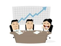 Business team in meeting. Clipart vector illustration