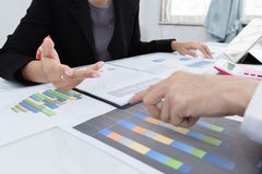 Professional investor working the project. Concept business and finance. Business team meeting consulting the project.professional investor working the project stock image