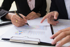 Business team meeting consulting the project.professional investor working the project. Royalty Free Stock Photo