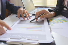 Business team meeting consulting the project.professional investor working the project. Concept business finance Royalty Free Stock Photo