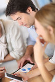 Business team meeting and discussing Stock Photography