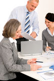 Business team meeting executive senior woman Royalty Free Stock Photos