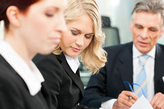 Business - team meeting in an office Stock Photo