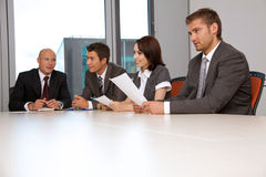 business team meeting in office Royalty Free Stock Image