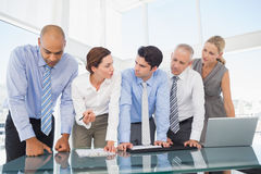 Business team during meeting stock photos